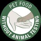 Pet food without animal testing